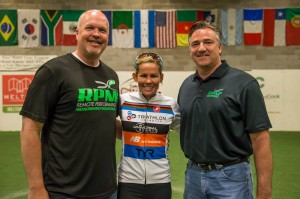 """RPM2 CEO Johnny Ross and Retail Manager Keith Hill with Mirinda """"Rinny"""" Carfrae"""