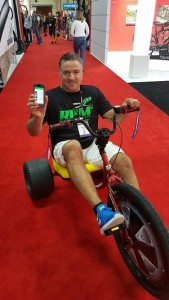 Johnny Ross proves the RPM2 power meter will work on anything, including a Big Wheel.