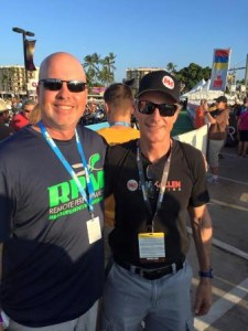 RPM2's Keith Hill with Ironman legend, Mark Allen.
